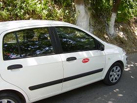Car from Kiklos Car Rental on Samos