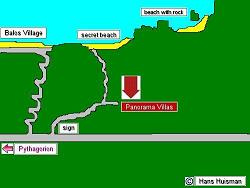 Samos, Map of Balos Beach