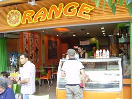 Samos, Pythagorion, Orange lunchroom & ice cream