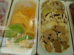 Samos, Pythagorion, Orange lunchroom & ice cream