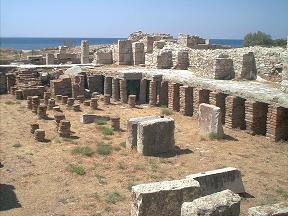 Samos, Roman baths and mosaic floors in Pythagorion