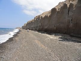 Paradise Beach in Santorini