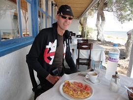 Taverna Panos, Monolithos Beach in Santorini