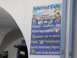 Cafe Bar Restaurant Spartacos in Athinios in Santorini