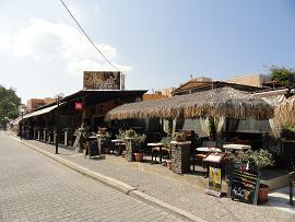 Dolce Cafe in Kamari in Santorini