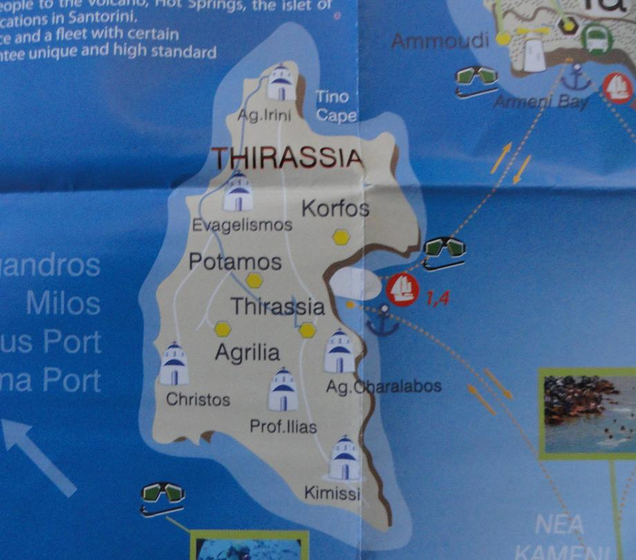 Thirassia Map