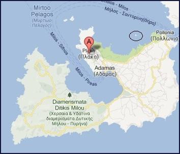 Milos, Glaronissia islets