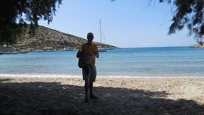 Village beach in Mersini Schinoussa