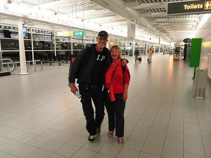 Truus de Graan & Hans Huisman @ Schiphol Airport