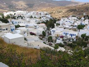 dorp op Tinos in Griekenland