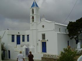 Church on Tinos in Greece, kerk op Tinos in Griekenland