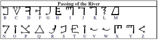 Passing of the River   A script that first appeared in Of Occult    Passing The River Alphabet