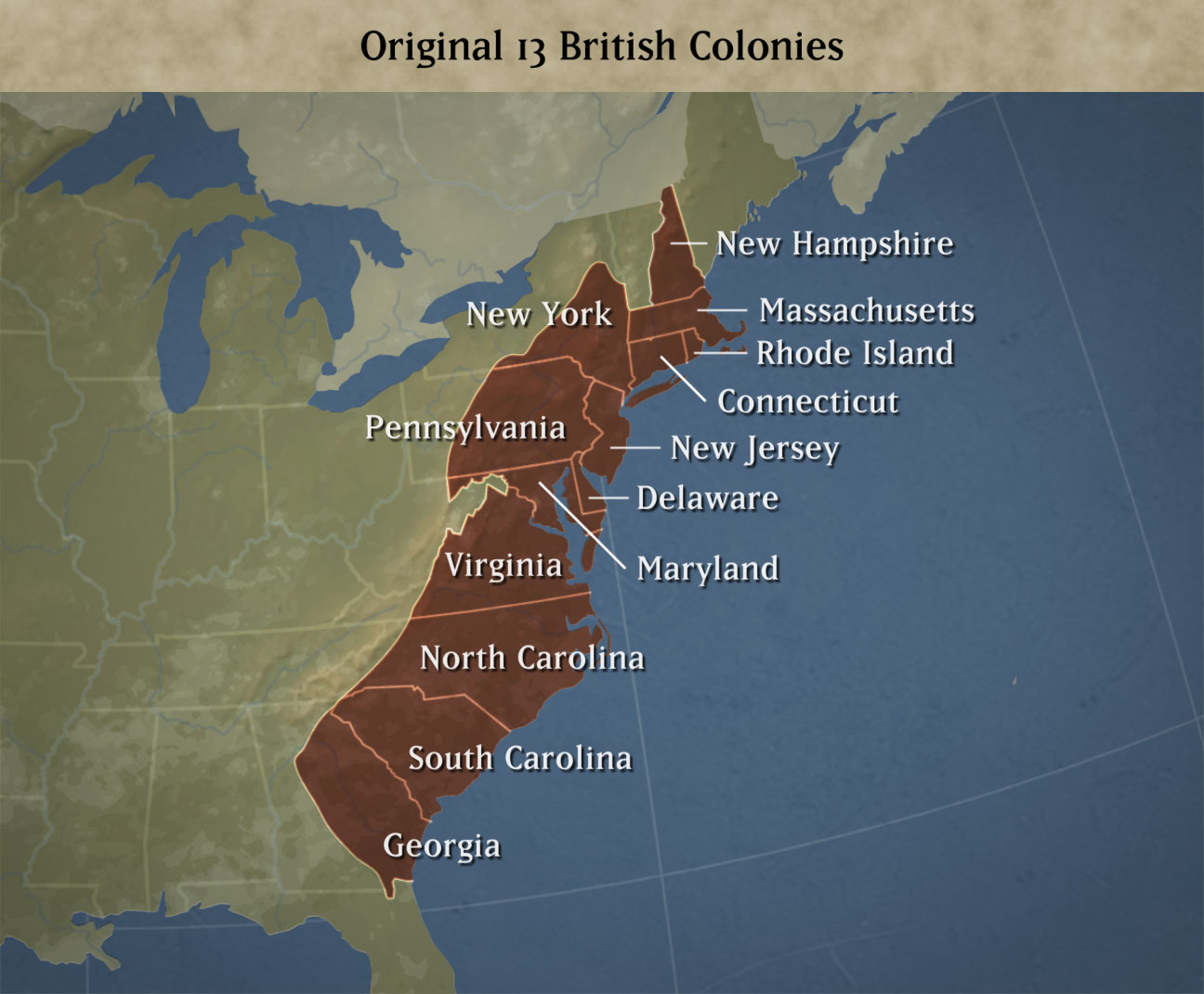 Providence Map 13 Colonies