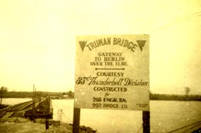 Truman Bridge across the Elbe River in Germany