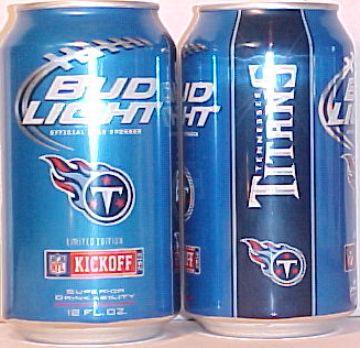Bud Light 2012 Kickoff Beer Cans 12 Fl Oz Cans 28 Team Set
