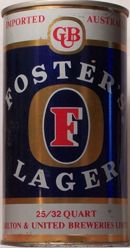 Foster Beer Can Size
