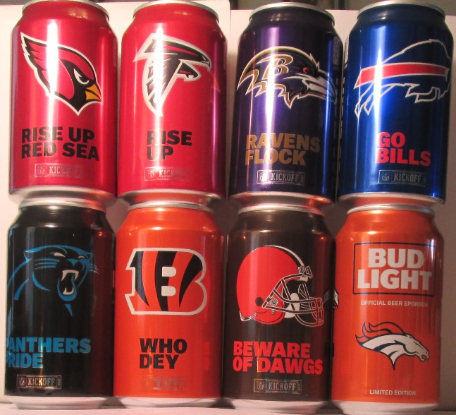 651b9ce2a BUD LIGHT 2017 NFL TEAM CANS - COMPLETE SET OF 32 CANS - $ 60.00. FIRST  EIGHT CANS - 1/8