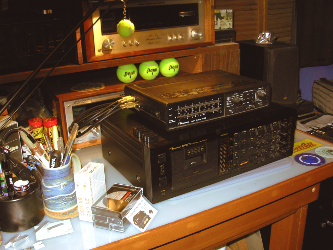 Super Tuning A Nakamichi Dragon Cassette Deck Harness Stacked Gear Awaiting Bench Time In The Studio