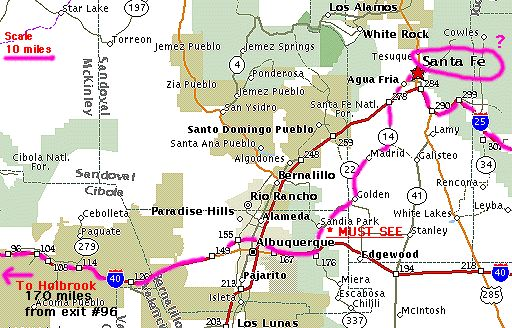 Rt66mapsml holbrook az to williams az map to grand canyon sciox Images