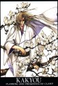 Kakyou in white robes standing amongst tree branches